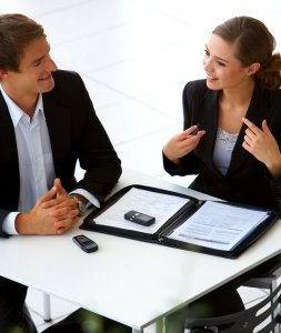 businessteam at a meeting