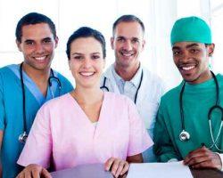 Un equipo medico exitoso